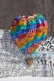 Baloon för varm luft tecken Arkivfoton