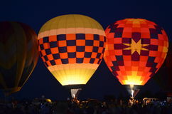 Baloon Festival Night Glows Royalty Free Stock Photos