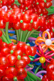 Baloon Flowers. Colorful  flowers maden of baloons background Stock Photography