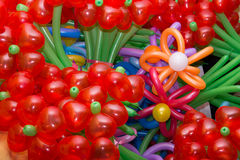 Baloon Flowers. Colorful  flowers maden of baloons background Stock Photos