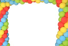 Baloon frame Royalty Free Stock Image