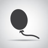 Baloon icon with shadow on a gray background. Vector illustration Royalty Free Stock Photography