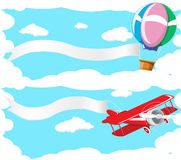 Baloon and plane Royalty Free Stock Photos