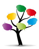 Baloon on stylized tree Stock Images