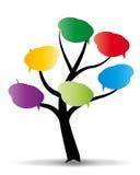 Baloon sull'albero stilizzato Immagini Stock