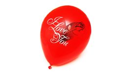 Baloon vermelho   Fotos de Stock Royalty Free