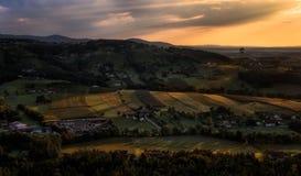 Balooning в Штирии, Австрии стоковые изображения