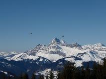 Balooning alpino fotografia stock