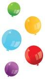 baloons五颜六色的向量 免版税库存照片