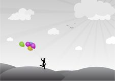 baloons男孩 库存图片