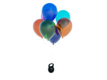 baloons重量 免版税库存照片