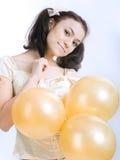 baloons κορίτσι Στοκ φωτογραφίες με δικαίωμα ελεύθερης χρήσης