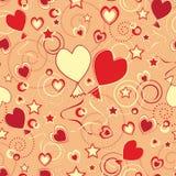 baloons πρότυπο καρδιών επαναλα Στοκ Εικόνα
