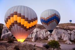 Baloons горячего воздуха в Cappadocia Турции Стоковая Фотография
