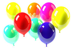 Baloons. Different color balloons on white Royalty Free Stock Photography