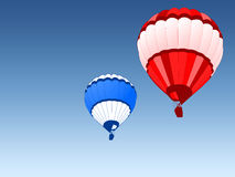 Baloons. Air balloons in the skies Royalty Free Stock Images