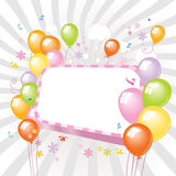 五颜六色的baloons 免版税库存图片