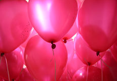 Baloons cor-de-rosa   Imagem de Stock