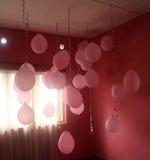 Baloons cor-de-rosa fotografia de stock