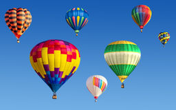 Baloons d'air chaud Images libres de droits