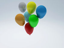 Baloons 3d Royalty Free Stock Photography