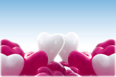 Baloons de forme de coeur Image stock