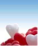 Baloons de forme de coeur Image libre de droits