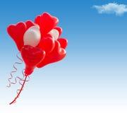Baloons de forme de coeur Photographie stock