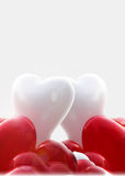 Baloons de forme de coeur Photographie stock libre de droits