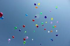 Baloons in de hemel Stock Afbeelding