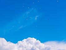 Baloons in de hemel Stock Foto's