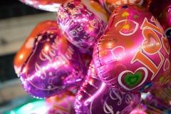 Baloons del amor Foto de archivo