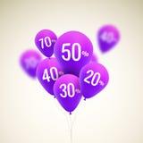 Baloons Discount. SALE concept for shop market store advertisement commerce. Stock Photos