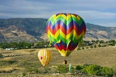 Baloons do ar quente imagem de stock