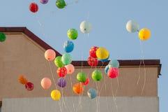 Baloons in einer Luft Lizenzfreies Stockfoto