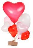 Baloons en forme de coeur Photographie stock libre de droits
