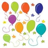 Baloons en sterren Royalty-vrije Stock Foto's