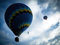 Baloons flying in São Lourenço Royalty Free Stock Photography