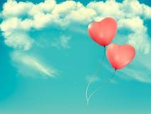 Baloons in forma di cuore del biglietto di S royalty illustrazione gratis