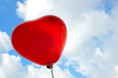 Baloons in forma di cuore nel cielo Fotografia Stock Libera da Diritti