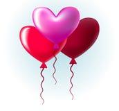 Baloons i en form av en hjärta Royaltyfri Bild