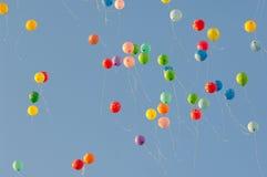 Baloons i luft Royaltyfri Foto