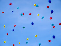 Baloons no céu Fotografia de Stock Royalty Free