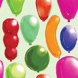 Baloons pattern. For using in different spheres Royalty Free Stock Photos