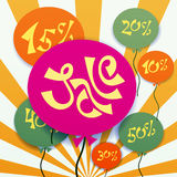 Baloons with sale text Stock Image