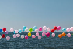 Baloons. Sea ,sky and target baloon Royalty Free Stock Image