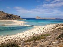 balos克利特海岛盐水湖海景 库存图片
