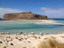 balos克利特海岛盐水湖海景 库存照片