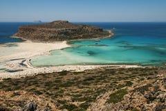 balos克利特海岛盐水湖海景 免版税库存图片