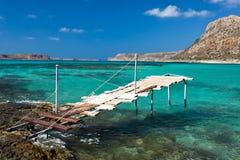 balos海湾克利特希腊 免版税库存图片
